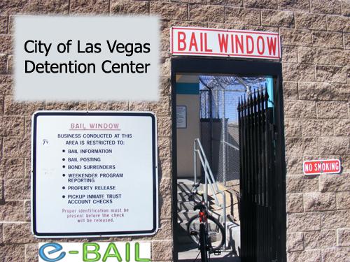 Bail Window - City of Las Vegas Detention Center