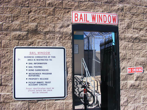 City of Las Vegas Detention Center Bail Window